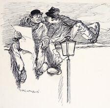 Dessin original à l'encre de Ricardo FLORES (1878-1918)  illustration humour