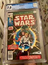 Star Wars 1! Marvel Comics 1977! CGC 7.0! White Pages! Great Book! WOW!
