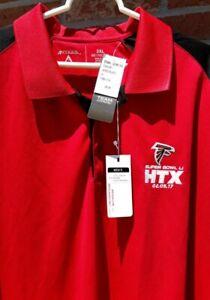 Atlanta Falcons NFL Team Apparel Polo Shirt Super Bowl 2017 Red/Black 3XL