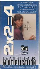 Learning Multiplication VHS VIDEO - Video Tutor - Fundamentals Grades 2-5