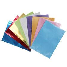 Open Top Heat Seal Aluminum Foil Bags Vacuum Storage Mylar Bag Pouches 9 Colors