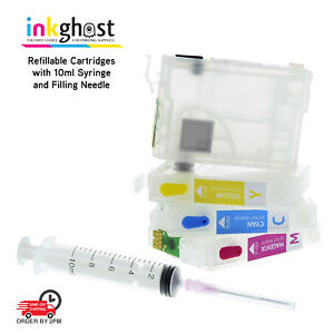 Ink 👻 Empty Refillable Cartridges for Epson 252 252XL WF-7710 WF-7720 & More