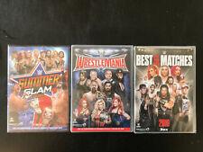 3 DVD DE CATCH WWE NEUF version française