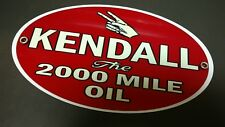 Kendall 2000 mile Motor Oil gasoline sign oval #2