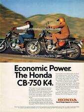 1974 HONDA CB 750 K4 FOUR USA MOTORCYCLE A3 POSTER AD ADVERT ADVERTISEMENT