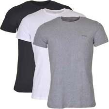 Diesel Underwear Men's UMTEE Jake 3-Pack Crew Neck T-Shirt, Black / Grey / White