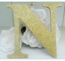 Personalised Sparkly Glitter muro in legno porta lettere/nome sign. qualsiasi colore.