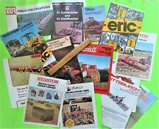 Lot of 14 Misc. Farm Equipment Implement Brochures Mulchers Cultivators Balers