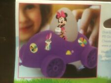 Disney Minnie Mouse Egg Racer Car Plastic With Stickers