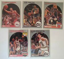 Lot de 5 Cartes Basketball NBA Hoops 90/91 Barkley / Malone / Ewing