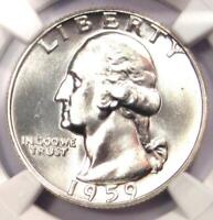 1959 Washington Quarter 25C - NGC MS67 - Very Rare in MS67 - $5,250 NGC Value!