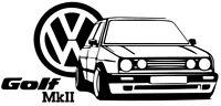 VW Volkswagen Golf mk2 VAG GTI XXL pegatina aufkleber vinilo, vinyl, 18 colours