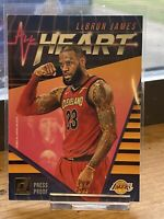 2018-19 Panini Donruss LeBron James All Heart Press Proof SP Lakers Heat Cavs