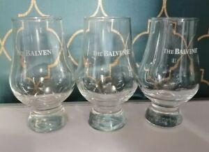 Set  Of 3 The Balvenie Glencairn Whisky Glasses