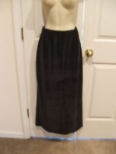 new/pkg j.r.t. newport news brown velvet  long straight skirt small 6-8
