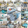 3D Abstract Ocean Wave Non-slip Livingroom Kitchen Bathroom Floor Mat Rug Carpet