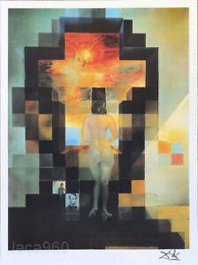 Salvador Dali Gala In LINCOLN VISION Litho Print Facsimile Signed 29-3/4 x 22