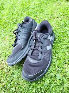Kids Under Armour Micro G Black Trainers Size 4