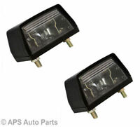 x2 Universal Number Plate Light Car Tractor Jeep Van Trailers Caravans Lamp 12V