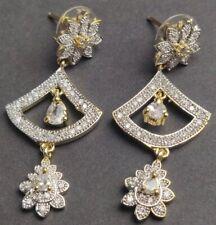 BRAND NEW FABULOUS ZIRCONIA AMERICAN DIAMOND STUD EARRINGS #AD-SER-T1