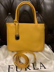 Furla brand new Woman shoulder bag Girasole in yellow leather