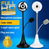 USB HD Web Cam Camera Webcam w/ Microphone for Computer PC Laptop Desktop
