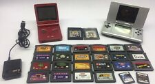 Nintendo Game Boy Advance SP & DS Handheld System Game Lot of 26 Mario Pokemon