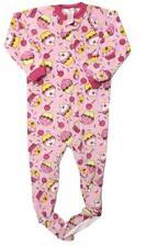 New! size 4 GIRLS CUTE CUPCAKES ONE PIECE FLEECE PAJAMAS PJ'S SLEEPWEAR OUTFIT