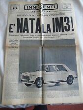 Innocenti Newsletter IM3 Special brochure c1962 Italian text
