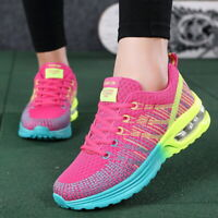 Women Athletic Sneakers Air Cushion Sport Shoes Mesh Breathable Lace Up Trainers
