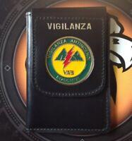 Cinturone Vega Holster 1V60 in Pelle Uso Polizia Vigilanza Fibbia 1 Ardiglione