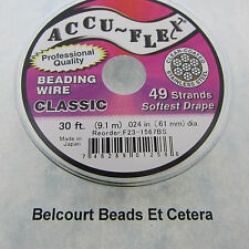 49 Strand .024 Accu-flex CLEAR Stainless Steel - 30 Feet Extreme High Quality
