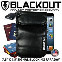 "FARADAY CAGE EMP BAG RFID PRIVACY PHONE SIZE BLACKOUT 7.5"" X 4.5"""