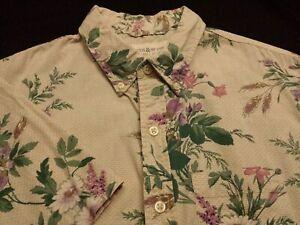 Ralph Lauren Denim Supply Mens Small S/S Button-Down Multicolor Floral Shirt