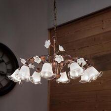 Lampadario 8 luci in ferro battuto e ceramica coll. siena FL C1185/8 LA