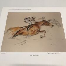 """Print Jonathan Trowell """"Two From Home"""" Ltd Ed 500 Pencil Signed"""