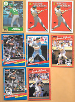 1987 TOPPS #366 MARK McGWIRE ROOKIE + 3 MARK McGwire ERROR  OAKLAND  A'S CARDS