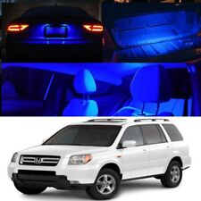 For 03-08 Honda Pilot Blue Interior Xenon LED Bulb Full Package Map Dome Trunk