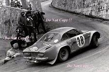 Jean-Claude Andruet Alpine-Renault A110 1800 Monte Carlo Rally 1973 Photograph 4