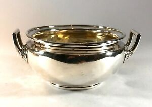 Antique Solid Silver Georgian Large Heavy Sugar Bowl 429 grams London 1807