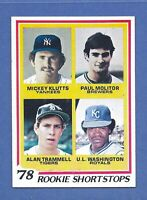 1978 Topps Alan Trammell & Paul Molitor Rookie #707 NM/MT+ & Well Centered!