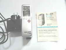 Vintage  Bauer E-160 Ultrablitz Electronic Camera Flash Unit W/Charger & Manuel
