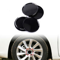 """4pcs Universal 63mm 2.5"""" Car Wheel Hubs Center Caps Covers No Badge Emblem Black"""