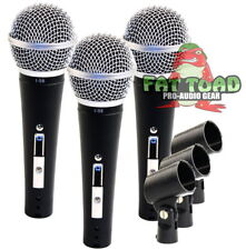 Cardioid Vocal Microphones - Pack Handheld Recording Studio Mic Unidirectional