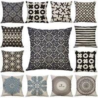 Mandala Print Cotton Linen Decorative Pillow Case Sofa Cushion Cover Home Decor