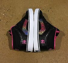 ETNIES Kids RVM Vulc Size 2 Black Pink White BMX Skateboarding Shoes Sneakers
