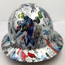 FULL BRIM Hard Hat custom hydro dipped , NEW ROCK ZOMBIE F**K YEAH KILLER NEW
