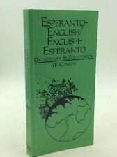 ESPERANTO-ENGLISH, ENGLISH-ESPERANTO DICTIONARY AND PHRASEBOOK - Conroy, 1999