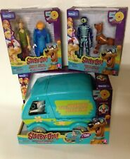 Scooby-Doo Mystery Machine Play Set w/Fred, Shaggy & Scooby Action Figures, New