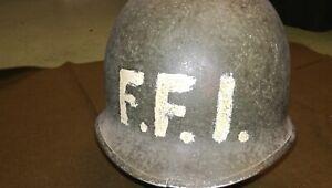 Casque M1 us ww2  utilisé FFI ( rare)